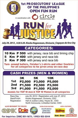 1st Prosecutors League of the Philippines - Open Fun Run