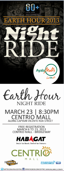 CENTRIO MALL_EARTH HOUR NIGHT RIDE