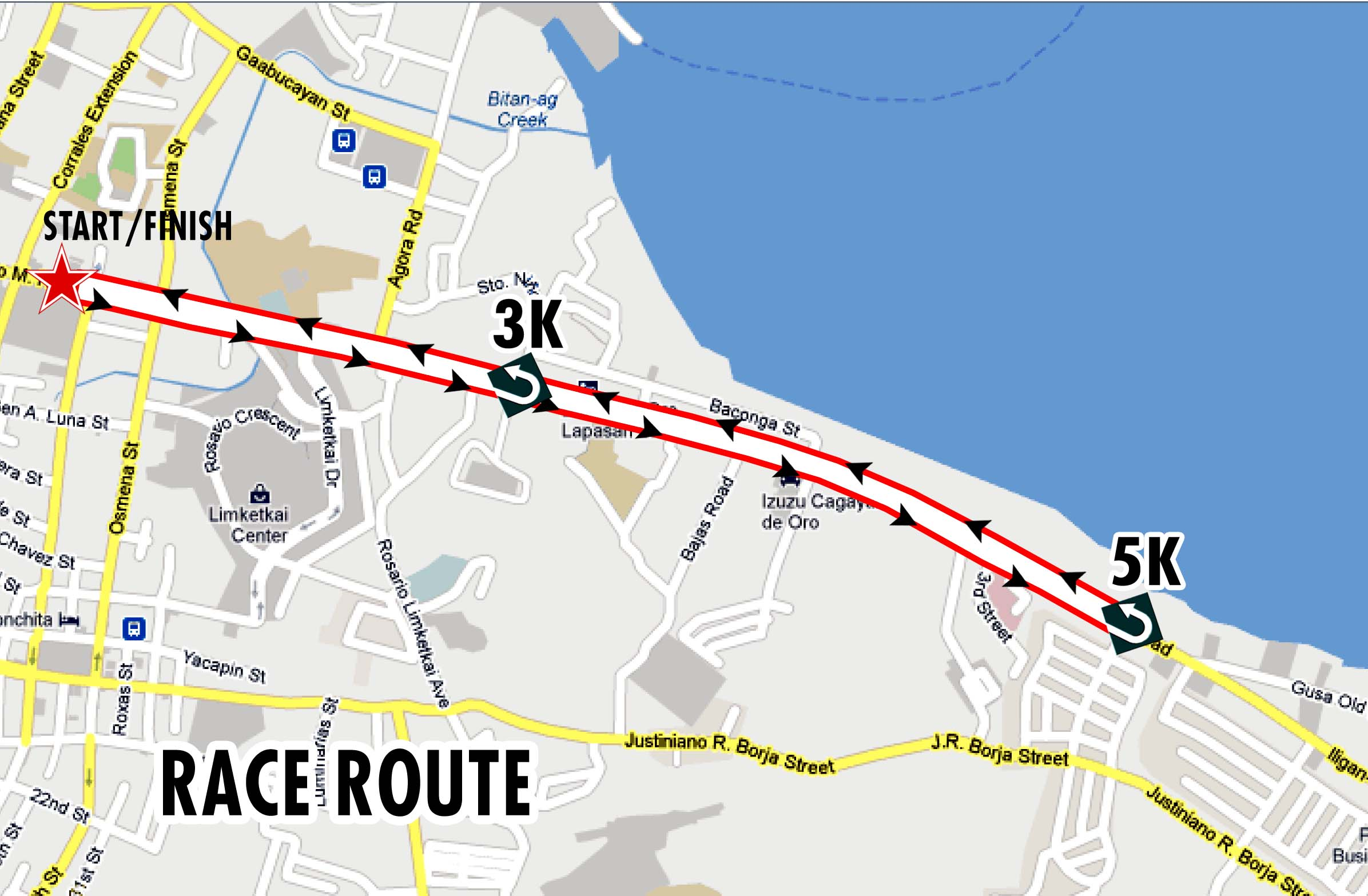 Rustan's Walkathon Map
