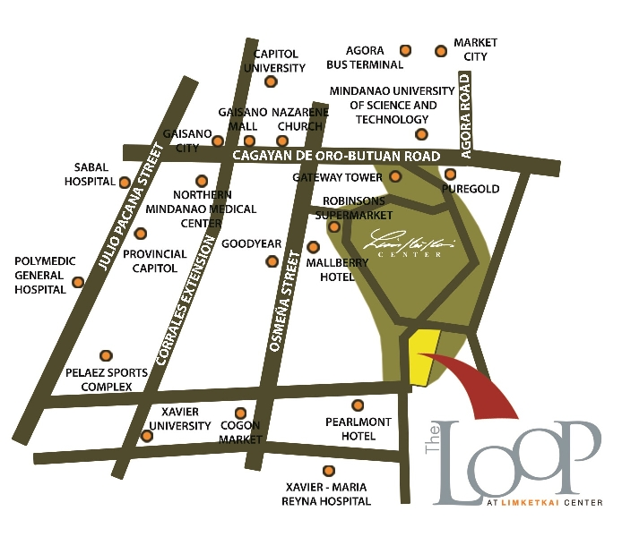 the loop condo in cdo vicinity map address
