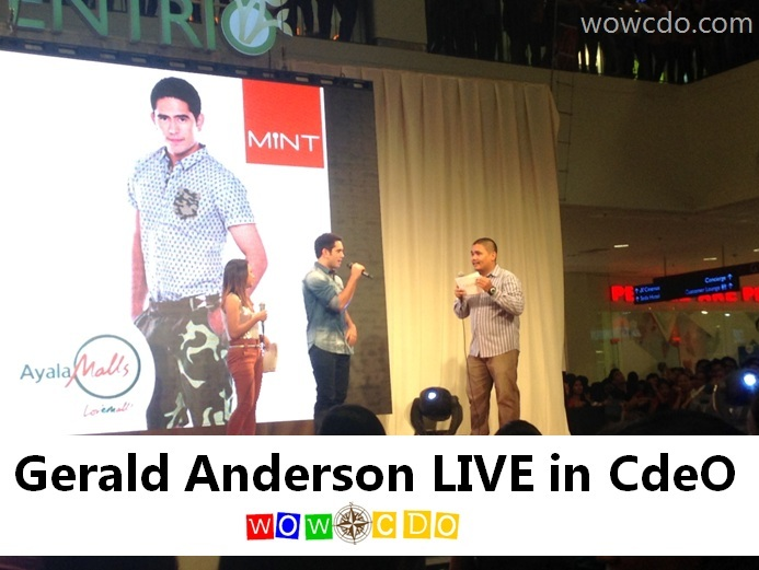 [VIDEO] Gerald Anderson Live in Cagayan de Oro for Mint