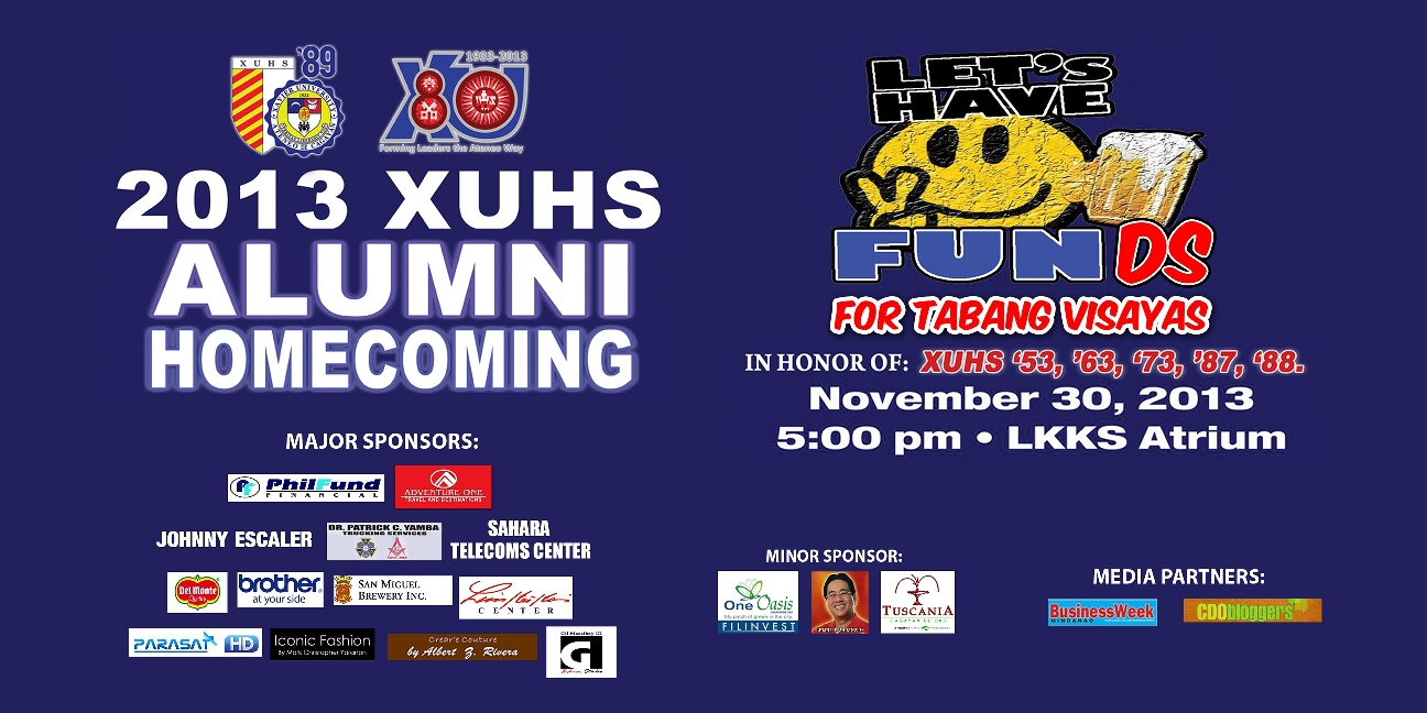 XUHS to hold its Alumni Homecoming on November 30 #XUHSHomecoming2013