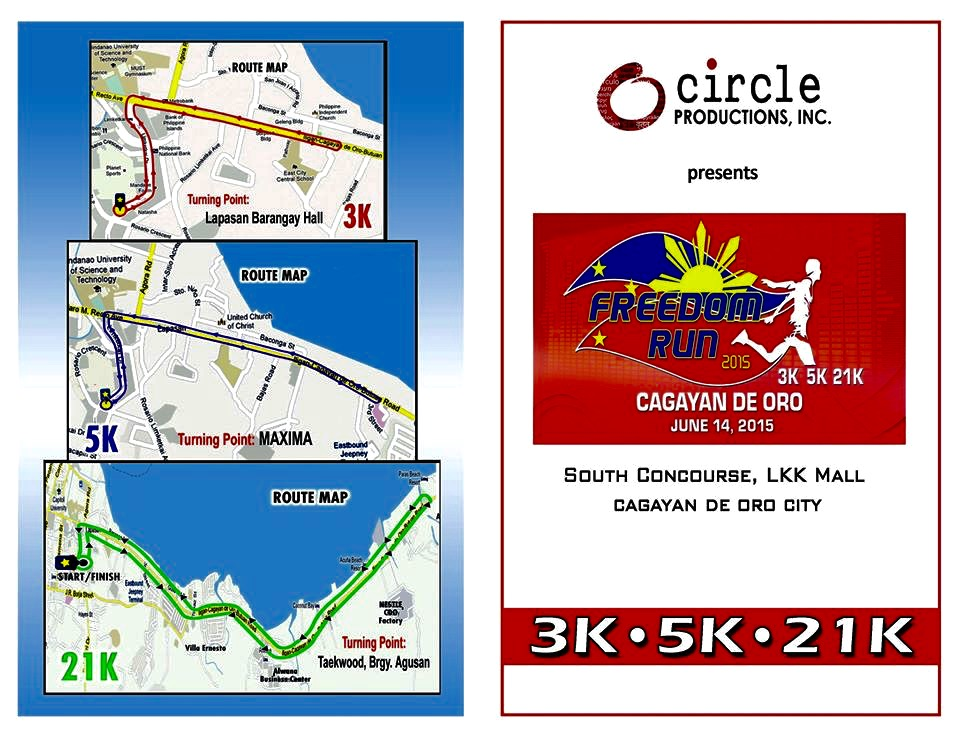freedom run 2015 - cagayan de oro - race route