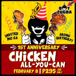 Boy Zugba to Celebrate 1st Birthday with Chicken-All-You-Can!
