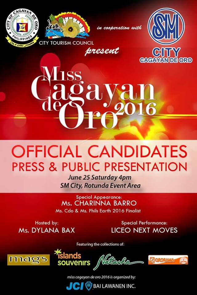 Meet the 12 Candidates of Miss Cagayan de Oro 2016
