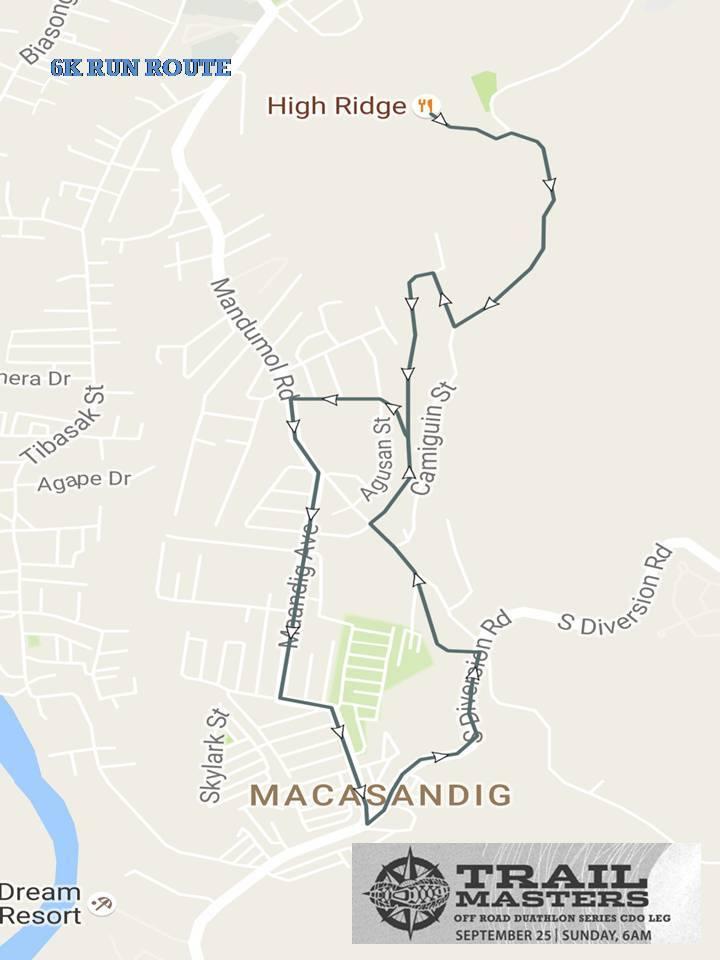 columbia-trail-master-duathlon-cdo-run-route