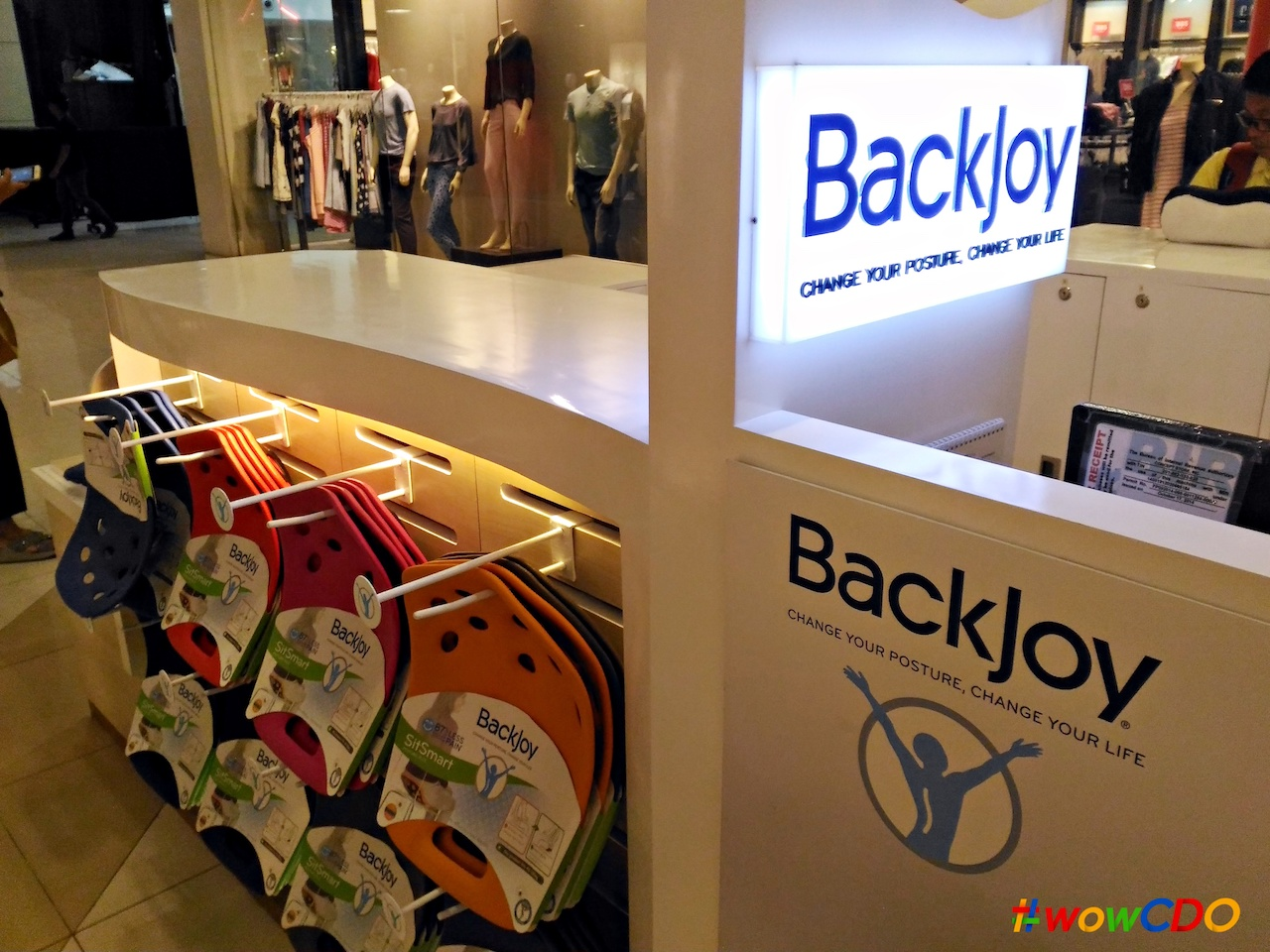 BackJoy kiosk at Centrio Mall.