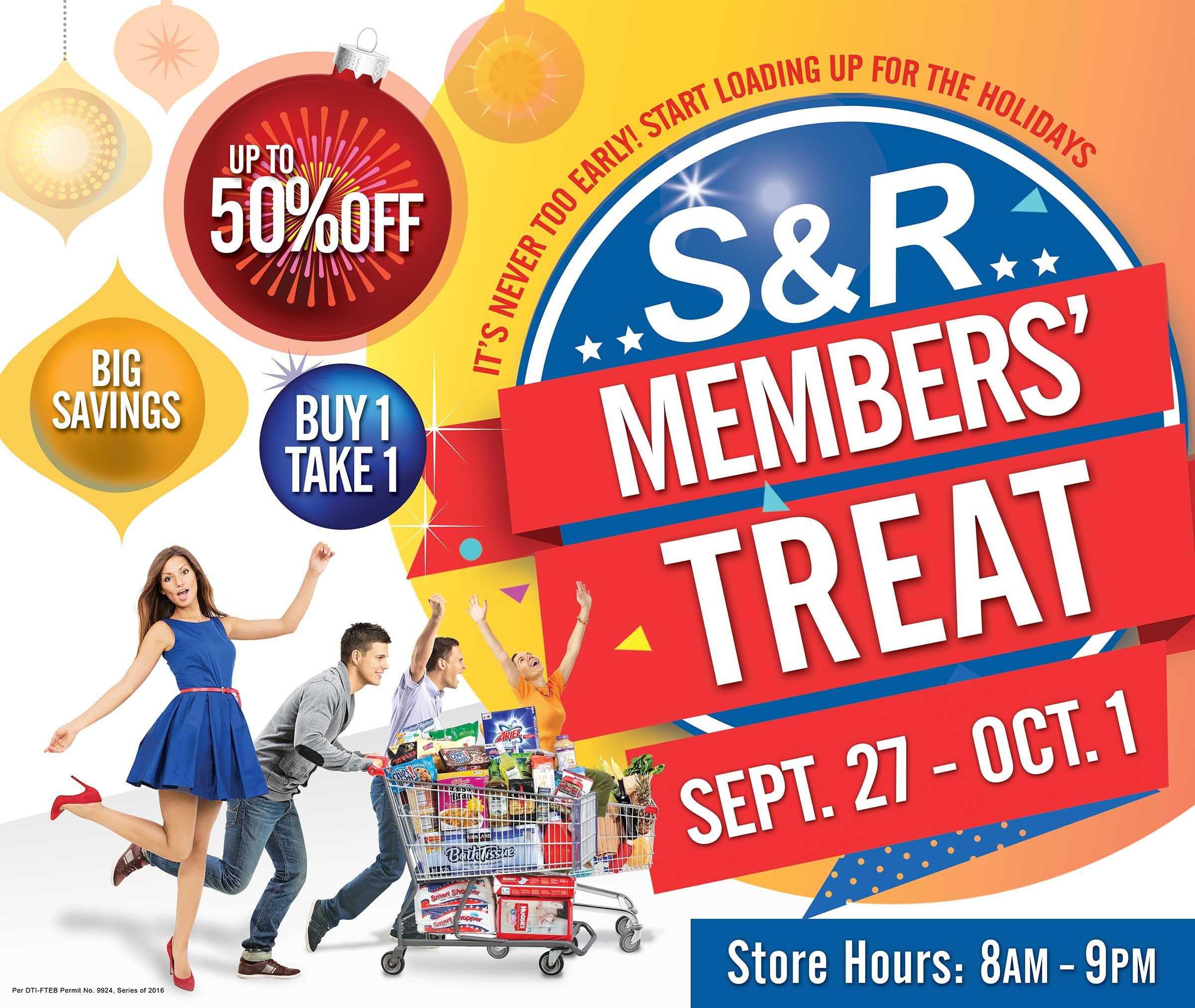 s&r members' treat sale cdo