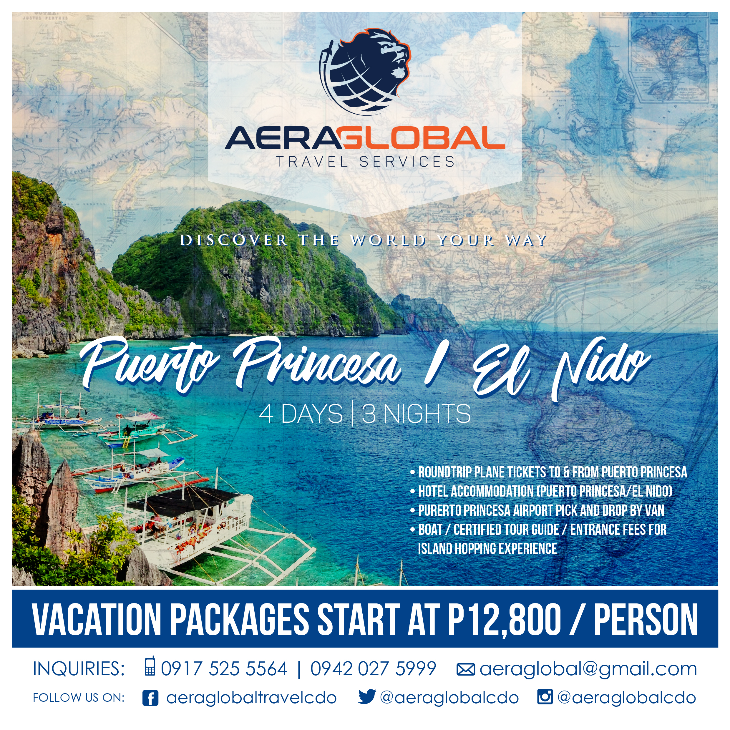 Aera Global Travel Services' Palawan Package