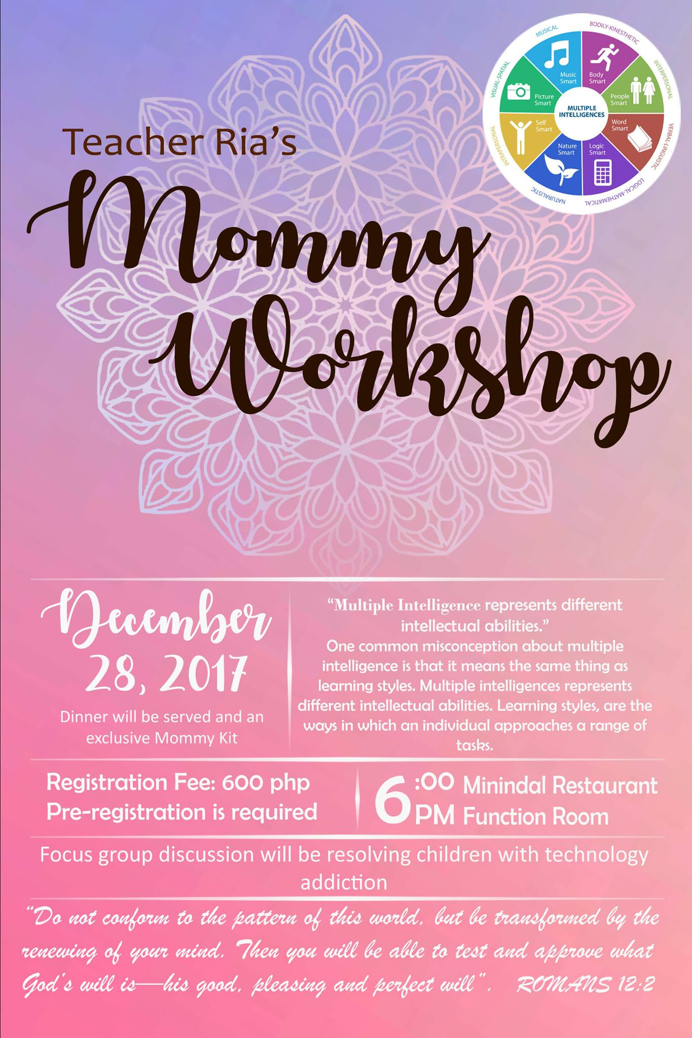 teacher ria mommy workshop
