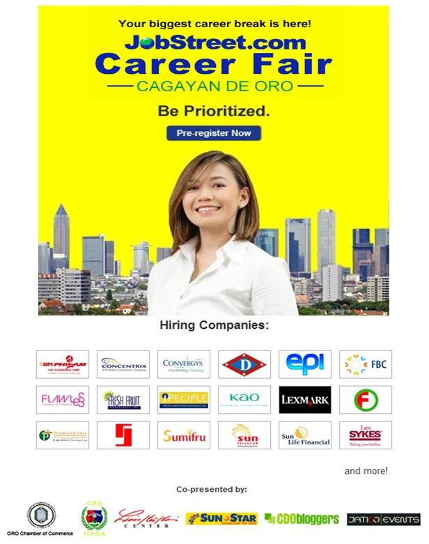Jobstreet career fair 2013 cagayan de oro wowcdo jobstreet career fair cdo stopboris Image collections